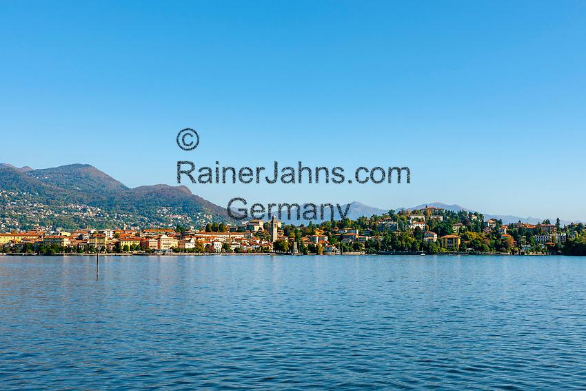 Italy, Piedmont, Verbania: town on Lago Maggiore with church San Leonardo | Italien, Piemont,Verbania: Stadt am Lago Maggiore mit der Kirche San Leonardo