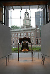 Liberty Bell and Independence Hall..Philadelphia, Pennsylvania, PA USA.  Photo copyright Lee Foster, 510-549-2202, lee@fostertravel.com, www.fostertravel.com.  Photo 257-30760.