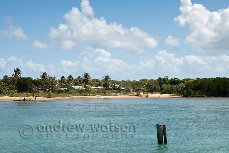 Beach at the port of Horn Island, Torres Strait Islands, Queensland, Australia