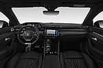 Stock photo of straight dashboard view of a 2019 Peugeot 508 GT-Line 5 Door Wagon