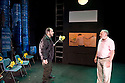 In The Pinal Colony by Franz Kafka, adapted and directed by Amir Nizar Zuabi. With  Amer Hlehel as The Executioner, Taher Najib as The Prisoner, Makram Khoury as The Visitor,. Opens at The Young Theatre  on 14/7/11 CREDIT Geraint Lewis