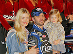 Sprint Cup Series driver Jimmie Johnson (48) celebrates after winning the Nascar Sprint Cup Series AAA Texas 500 race at Texas Motor Speedway in Fort Worth,Texas. Sprint Cup Series driver Jimmie Johnson (48) wins the AAA Texas 500 race.