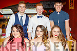 Glad to Grad<br /> -----------------<br /> Students who graduated from Mounthawk secondary school, Tralee, dined in restaurant Uno's, Tralee last Friday to celebrate, seated L-R Tara O'Halloran, Eni Gaxha&amp;Michaela Hennessy, back L-R Sam O'Callighan, Eoin Hennessy with John Greene.