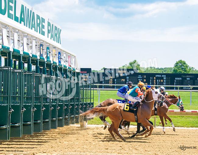 Lucas Long Step winning at Delaware Park on 6/20/16