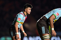 Marcus Smith of Harlequins looks on. Aviva Premiership match, between Harlequins and Sale Sharks on October 6, 2017 at the Twickenham Stoop in London, England. Photo by: Patrick Khachfe / JMP