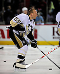 21 September 2009: Pittsburgh Penguins' defenseman Sergei Gonchar warms up prior to a pre-season game against the Montreal Canadiens at the Bell Centre in Montreal, Quebec, Canada. The Canadiens defeated the defending Stanley Cup Champion Penguins 4-3. Mandatory Credit: Ed Wolfstein Photo
