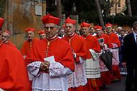 Cardinali all'Aventino durante la processione per il Mercoledì delle ceneri