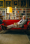 Anthony Powell writer at home in Frome Somerset 1987.
