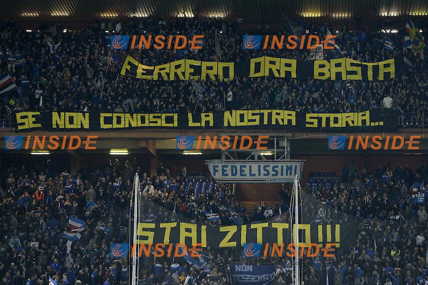 Genova 30-10-2016 - Football campionato di calcio serie A / Sampdoria - Inter / foto Image Sport/Insidefoto<br />  striscione tifosi Sampdoria
