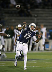 Nevada quarterback Cody Fajardo, (17) passes in an NCAA college football game against Colorado State in Reno, Nev., on Saturday, Oct. 11, 2014. Colorado State won 31-24. (AP Photo/Cathleen Allison)
