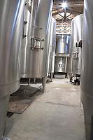 Fermentation tanks. Chateau Liot, Barsac, Sauternes, Bordeaux, France