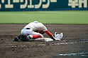 Yuma Fukumoto (), MARCH 31, 2016 - Baseball : Yuma Fukumoto of Chiben Gakuen looks dejected at first base as he grounds out to third in the eighth inning during the 88th National High School Baseball Invitational Tournament final game between Takamatsu Shogyo 1-2 Chiben Gakuen at Koshien Stadium in Hyogo, Japan. (Photo by Katsuro Okazawa/AFLO)16 0331 9() vs 8 2