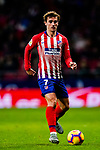Antoine Griezmann of Atletico de Madrid in action during the La Liga 2018-19 match between Atletico de Madrid and Athletic de Bilbao at Wanda Metropolitano, on November 10 2018 in Madrid, Spain. Photo by Diego Gouto / Power Sport Images