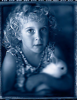 Girl with bunny rabbit.