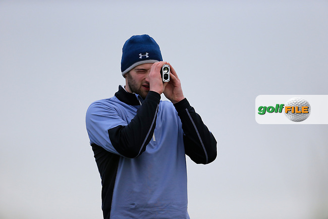 Ryan O'Dwyer (Hibernia) during the Irish Intervarsity Championship from the European Club, Brittas Bay, Wicklow, Ireland. <br /> Picture: Fran Caffrey / Golffile
