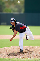 Minnesota Twins pitcher Mike Theofanopoulos (41) during an instructional league game against the Boston Red Sox on September 26, 2015 at CenturyLink Sports Complex in Fort Myers, Florida.  (Mike Janes/Four Seam Images)