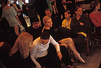 MINSK, BELARUS - APRIL 2 Members of the Belarus national ballet company rest between rehearsals at their practice studio on April 2, 2004 in Minsk Belarus. For years, Belarus was frozen in its communist past. Now the radical change that has swept the former Soviet Union -- from Georgia's 2003 popular uprising to Ukraine's orange revolution last winter to the recent meltdown in Kyrgyzstan -- is catching up with President Alexander Lukashenko, a dictator whose regime has been described as Stalinism minus the Gulag. The images here capture a country and a people inexorably moving toward revolution: Student activists organizing illegally, democratic reformers meeting in rusting warehouses, protesters holding pictures of 'enemies of the state' murdered by the security services. Just beneath the apparent ordinariness and staidness of this post-Soviet republic, which is barely distinguishable from its former Soviet self, is a deep and powerful anger and a yearning for a new politics and a new possibility. That is the crux of Belarus today -- anger and yearning held together by the glimmer of a hope that tomorrow the regime may tumble. (Photo by Landon Nordeman)
