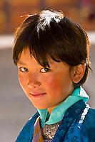 Girl at the Paro Teschu festival, Paro Dzong Monastery,  Paro Valley, Bhutan