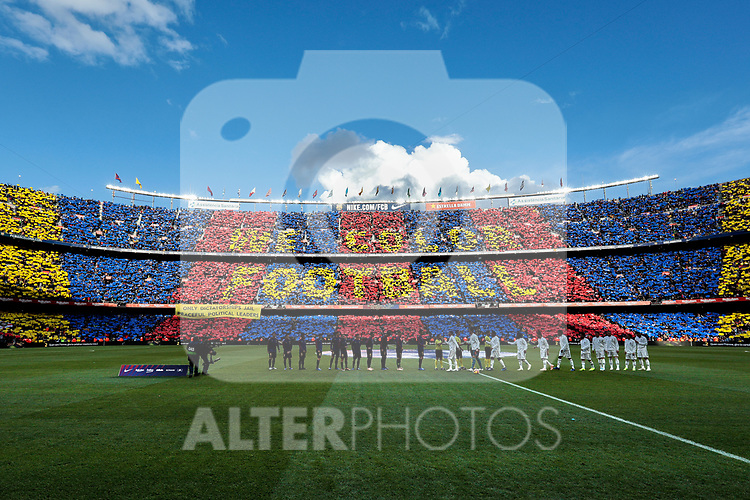 FC Barcelona's Camp Nou stadium during La Liga match between FC Barcelona and Real Madrid at Camp Nou Stadium in Barcelona, Spain. October 28, 2018. (ALTERPHOTOS/A. Perez Meca)