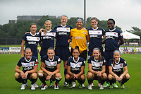 Sky Blue FC starting XI. Sky Blue FC and the Boston Breakers played to a 0-0 tie during a National Women's Soccer League (NWSL) match at Yurcak Field in Piscataway, NJ, on July 13, 2013.
