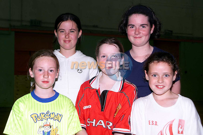 Laurelle Campbell, Ballymore, Grainne McCullough, Dromin, Marie therese Ward, Dromin, Emma Hughes, Dromin and Gemma Canavan, Ballymore at the sports induction day in the O'Raghallaigh's..Picture Paul Mohan Newsfile