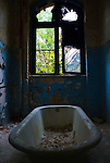 Derelict bathroom in Soviet hospital