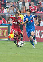 July 3, 2013: Montreal Impact midfielder Jeb Brovsky #5 and Toronto FC midfielder Reggie Lambe #19 in action during an MLS game between Toronto FC and Montreal Impact at BMO Field in Toronto, Ontario Canada.<br /> The game ended in a 3-3 draw.