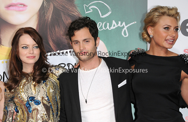 """Emma Stone,Penn Badgley and Aly Michalka at the Screen Gems' L.A. Premiere of """"Easy A"""" held at The Grauman's Chinese Theatre in Hollywood, California on September 13,2010                                                                               © 2010 Hollywood Press Agency"""
