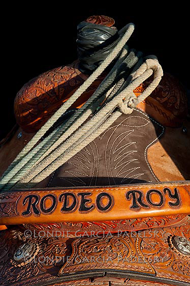 Custom Made Team Roping Saddle made for 'Rodeo Roy', Roy Garcia