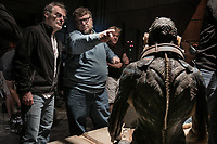 The Shape of Water (2017) <br /> Behind the scenes photo of Guillermo del Toro, Doug Jones &amp; Dan Laustsen  <br /> *Filmstill - Editorial Use Only*<br /> CAP/MFS<br /> Image supplied by Capital Pictures