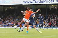 Blackpool's Nathan Delfouneso gets on the end of a cross<br /> <br /> Photographer Rob Newell/CameraSport<br /> <br /> The EFL Sky Bet Championship - Southend United v Blackpool - Saturday 10th August 2019 - Roots Hall - Southend<br /> <br /> World Copyright © 2019 CameraSport. All rights reserved. 43 Linden Ave. Countesthorpe. Leicester. England. LE8 5PG - Tel: +44 (0) 116 277 4147 - admin@camerasport.com - www.camerasport.com