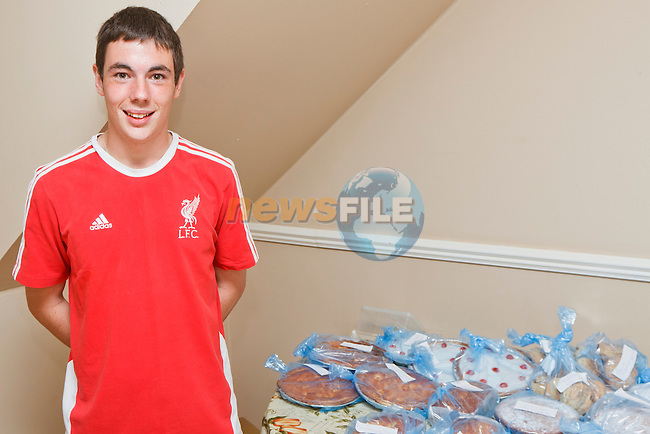 Tom Tremarco, with some of the food available on the morning..Picture: Shane Maguire / www.newsfile.ie.