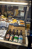USA, Oregon, Willamette Valley, food and beverage items for sale at the Red Hills Market in Dundee