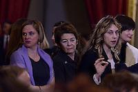 """Roma, 7 Marzo 2015<br /> Quirinale.<br /> Marianna Madia<br /> Giornata internazionale dela donna, <br /> celebrazione dedicata al tema """"Donne per la Terra""""."""