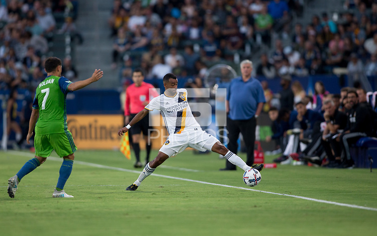 Carson, CA - Saturday July 29, 2017: Ashley Cole during a Major League Soccer (MLS) game between the Los Angeles Galaxy and the Seattle Sounders FC at StubHub Center.