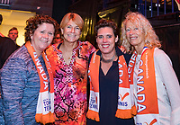 Den Bosch, The Netherlands, Februari 10, 2019,  Maaspoort , FedCup  Netherlands - Canada, ITF Awards, ltr: Manon Bollegraf, Marcella Mesker, Mirjam Oremans and Elly Vessies<br /> Photo: Tennisimages/Henk Koster