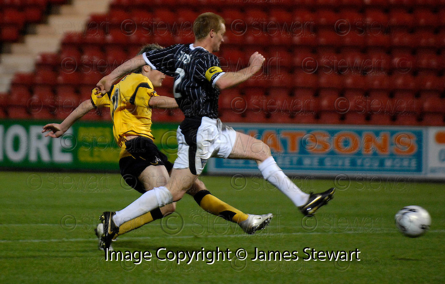 04/11/2006       Copyright Pic: James Stewart.File Name :sct_jspa10_dunfermline_v_falkirk.ANTHONY STOKES SCORES FALKIRK'S THIRD.James Stewart Photo Agency 19 Carronlea Drive, Falkirk. FK2 8DN      Vat Reg No. 607 6932 25.Office     : +44 (0)1324 570906     .Mobile   : +44 (0)7721 416997.Fax         : +44 (0)1324 570906.E-mail  :  jim@jspa.co.uk.If you require further information then contact Jim Stewart on any of the numbers above.........