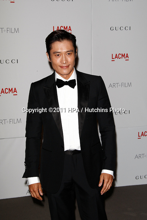 LOS ANGELES - NOV 5:  Lee Byung Hun arrives at the LACMA Art + Film Gala at LA County Museum of Art on November 5, 2011 in Los Angeles, CA