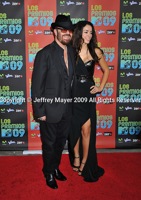 UNIVERSAL CITY, CA. - October 15: Dave Stewart and Cindy Gomez attend Los Premios MTV 2009 Latin America Awards held at the Gibson Amphitheatre on October 15, 2009 in Universal City, California.