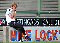 Swansea City manager Graham Potter prior to the Pre-Season Friendly between Yeovil and Swansea City at Huish Park, Yeovil, England, UK. Tuesday 10 July 2018