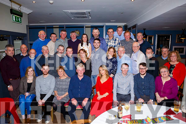 Tommy O'Leary seated centre with his family and friends at his retirement party from An Post at Benners Hotel on Saturday night last. Seated L-r, Colin O'Leary, Eileen O'Leary, Tommy O'Leary, Louise Lovett O'Leary and Darren O'Leary.