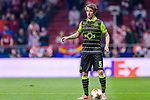 Fabio Coentrao of Sporting CP in action during the UEFA Europa League quarter final leg one match between Atletico Madrid and Sporting CP at Wanda Metropolitano on April 5, 2018 in Madrid, Spain. Photo by Diego Souto / Power Sport Images