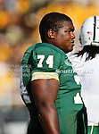 Baylor Bears center Philip Blake (74) in action during the game between the Rice Owls and the Baylor Bears at the Floyd Casey Stadium in Waco, Texas. Baylor defeats Rice 56 to 31..