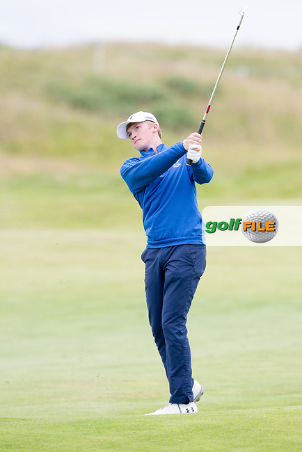 Sandy Scott (AM) (SCO) on the 18th during round 2 of the Aberdeen Asset Management Scottish Open 2017, Dundonald Links, Troon, Ayrshire, Scotland. 14/07/2017.<br /> Picture Fran Caffrey / Golffile.ie<br /> <br /> All photo usage must carry mandatory copyright credit (&copy; Golffile | Fran Caffrey)