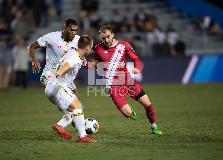 Santa Barbara, CA - Friday, December 7, 2018:  Maryland men's soccer defeated Indiana 2-0 in a semi-final match in the 2018 College Cup.  Spencer Glass.