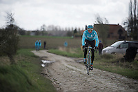 Lieuwe Westra (NLD/Astana) during recon of the 114th Paris - Roubaix 2016