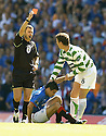 20/08/2005         Copyright Pic : James Stewart.File Name : jspa03 rangers v celtic.ALAN THOMPSON IS SENT OFF FOR HIS LATE CHALLENGE ON NACHO NOVO.Payments to :.James Stewart Photo Agency 19 Carronlea Drive, Falkirk. FK2 8DN      Vat Reg No. 607 6932 25.Office     : +44 (0)1324 570906     .Mobile   : +44 (0)7721 416997.Fax         : +44 (0)1324 570906.E-mail  :  jim@jspa.co.uk.If you require further information then contact Jim Stewart on any of the numbers above.........