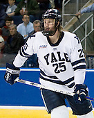 Ryan Donald (Yale - 25) - The University of Vermont Catamounts defeated the Yale University Bulldogs 4-1 in their NCAA East Regional Semi-Final match on Friday, March 27, 2009, at the Bridgeport Arena at Harbor Yard in Bridgeport, Connecticut.