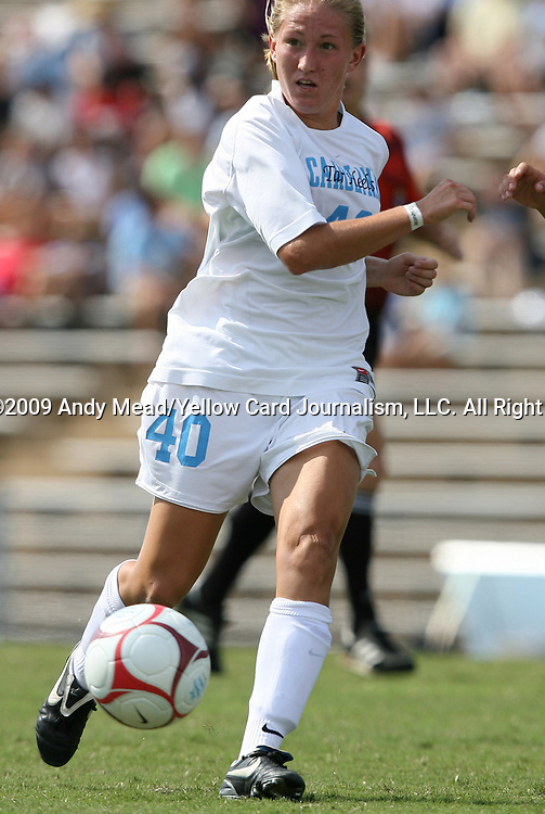 30 August 2009: North Carolina's Emmalie Pfankuch. The University of North Carolina Tar Heels defeated the University of North Carolina Greensboro Spartans 1-0 at Fetzer Field in Chapel Hill, North Carolina in an NCAA Division I Women's college soccer game.
