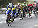Neil Flanagan and James McMorrow riding for Drogheda Wheelers in the A4 race at the Boyne G.P. near Slane. Photo:Colin Bell/pressphotos.ie